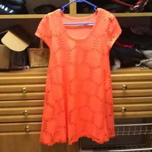 Orange flower sun dress