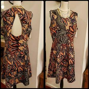 Ethnic Print Skater Dress