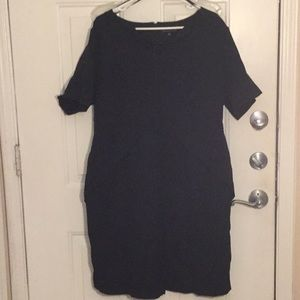 ELOQUII black suit dress with peplum. Size 16