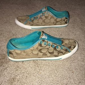 COACH SLIP ON SHOES SIZE 10!