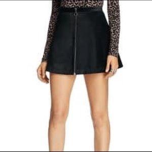 Free people Faux Suede Black mini skirt