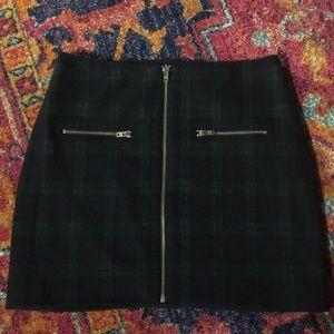 Madewell tartan print mini skirt