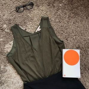 Olive Green Banana Republic Tank Top/Shell, Size S
