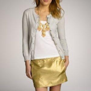 J.Crew Metallic Silk Mini Skirt EUC