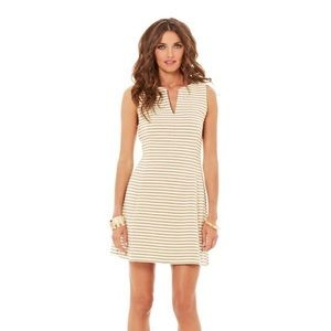 Lilly Pulitzer Gold Brielle Dress, XS