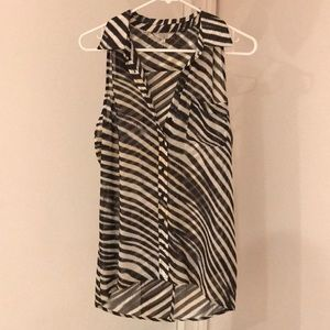 Guess zebra stripped blouse
