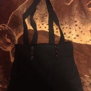 Black suspenderd mini dress