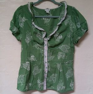 ODILLE butterfly blouse.