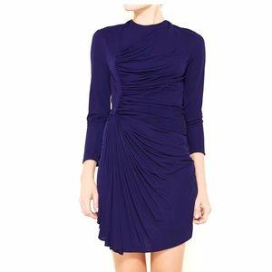 3.1 Phillip Lim Purple Dress Draped Front Sheath M