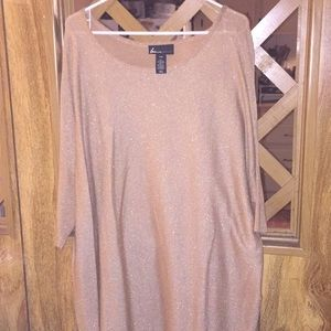 Gorgeous Lane Bryant gold sweater/blouse