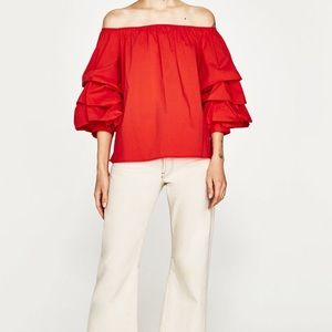 Zara Off the Shoulder Blouse