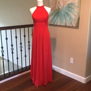 Custom made halter gown