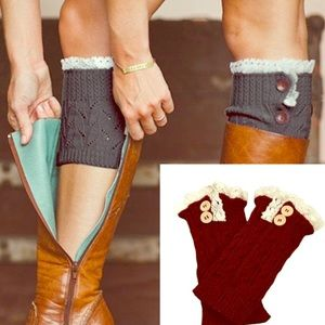 Accessories - 3/10$🔴SALE Knit lace boot cuffs W/buttons