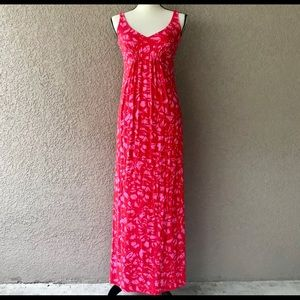 CAbi Maxi Tank Sun Dress Size S Red Orange