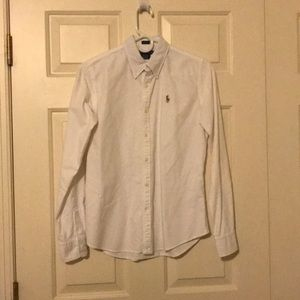 Ralph Lauren white slim fit oxford style shirt