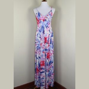 Jennifer Lopez Floral Maxi Dress Size Small