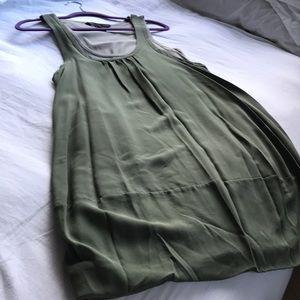 Marc Jacobs silk olive green bubble hem dress