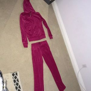 Hot Pink Velour Tracksuit