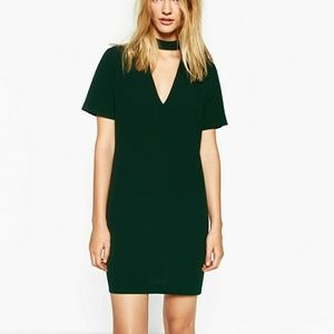 Zara Mini Dress with Collar Detail - M