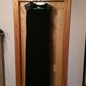 Black jersey knit Calvin Klein long dress 8