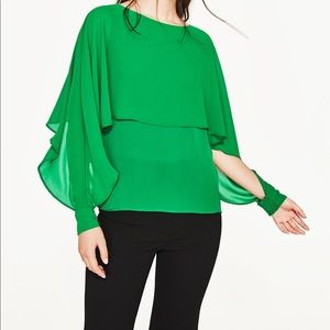 Zara Double Layer Flowing Blouse