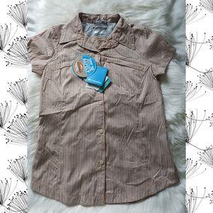 Columbia Omni Shade UV Filter Button Down T-shirt