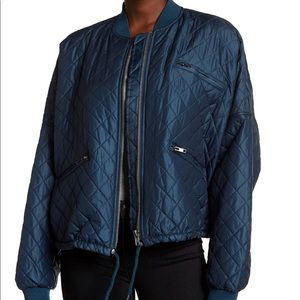 Free people easy quilted bomber jacket NWT