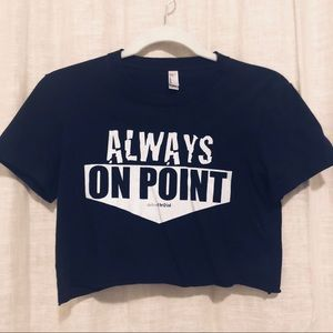 "New ""Always on Point"" crop top on American Apparel"