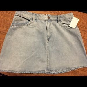 H&M Light Blue Denim Skirt Unworn