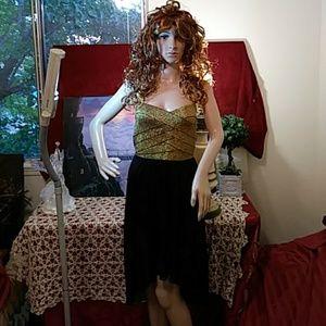 Roberta gold & black dress