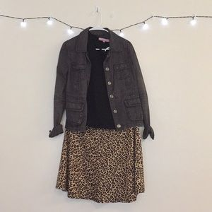 Cheetah Print Circle Skirt (Only worn once!)