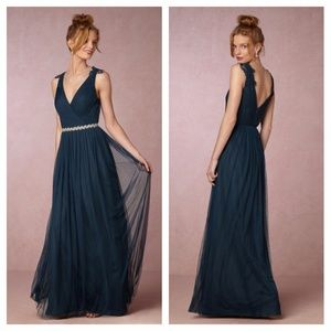 BHLDN Watters Pippa Bridesmaid Gown Dress Navy