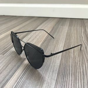 Vintage Crossover Sunglasses - Matte Black