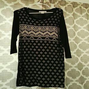 Knitted long-sleeved skirt