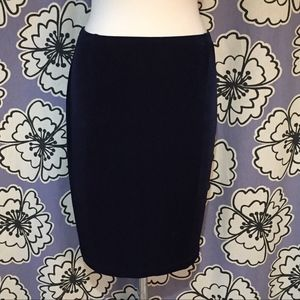 Chico's Travelers Black Stretch Pencil Skirt M