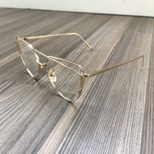 Vintage Crossover Sunglasses - Clear/ Gold