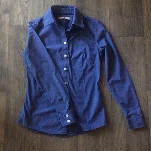 Denim blue long sleeve button up