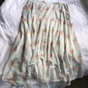 Band of Outsiders floral high low skirt
