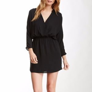 Nordstrom | 3/4 Length Sleeve Surplice Neck Dress