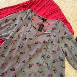 (14/16) LANE BRYANT Floral Top