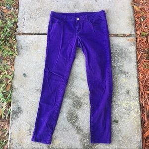 Purple skinny jeans from City Streets sz 11
