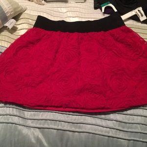 Beautiful red rose skirt