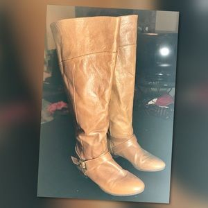⬇️$30 Chinese Laundry Leather Sz 6 Boots knee high