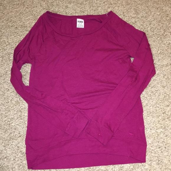 22feed4238b71 VS PINK - Dark Pink Long Sleeve Shirt
