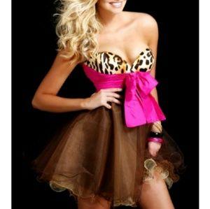 Sherri Hill bow strapless dress NWT