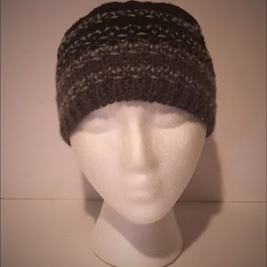 Abstract Hand Knit Mans Beanie Size Small