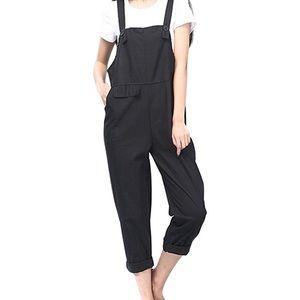 Black Overalls Romper Jumpsuit sz 4