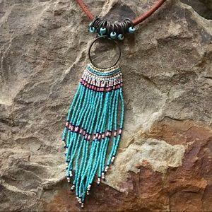 Beaded tassel necklace