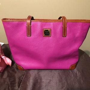 Dooney & Bourke pink pebble grain Charleston bag