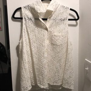 Equipment femme sleeveless lace top